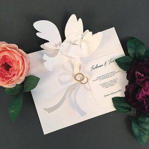 2 sets of 24 (48 total) pop up wedding invitations